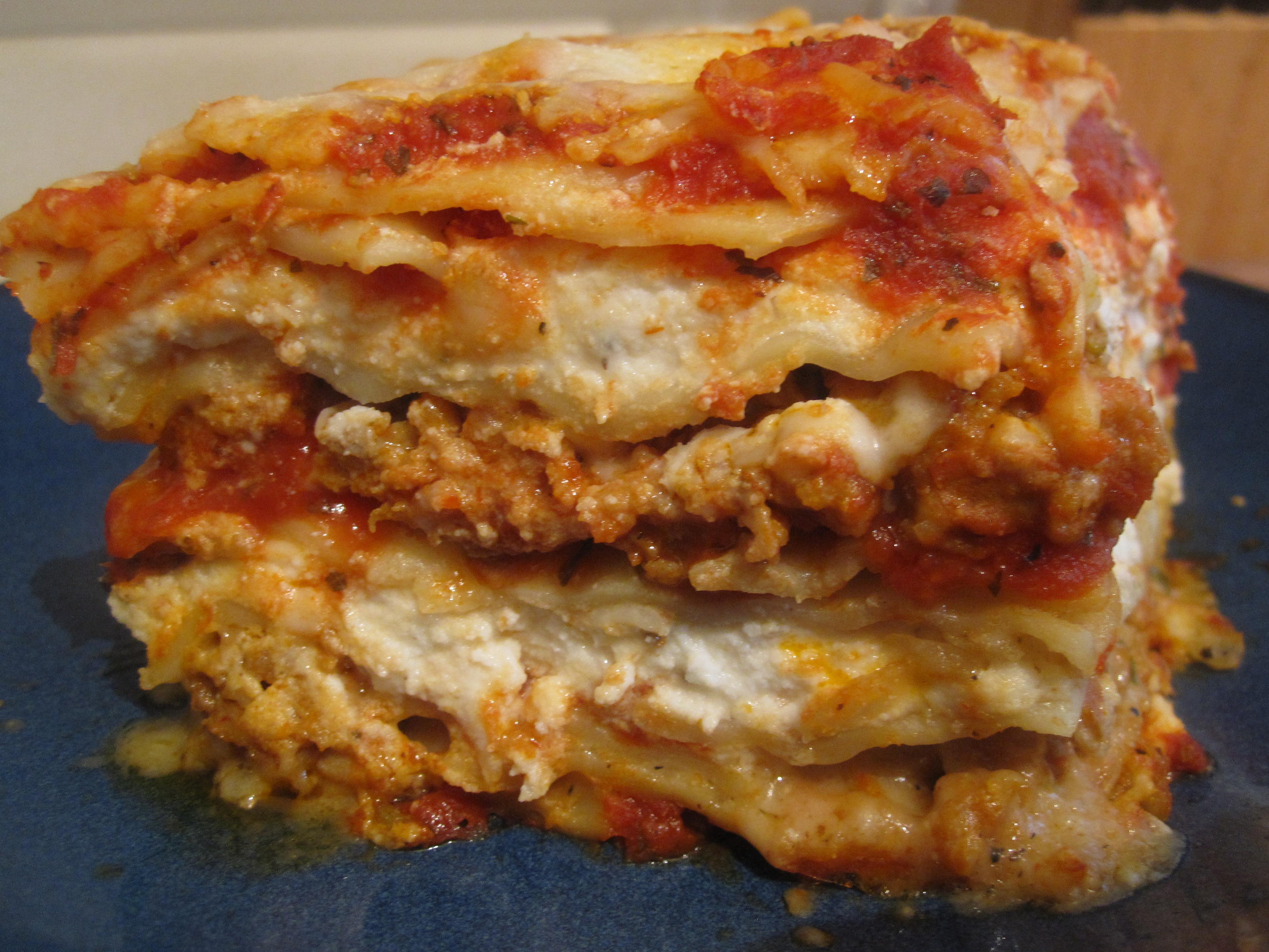Deep Dish Lasagna Starving Kitten