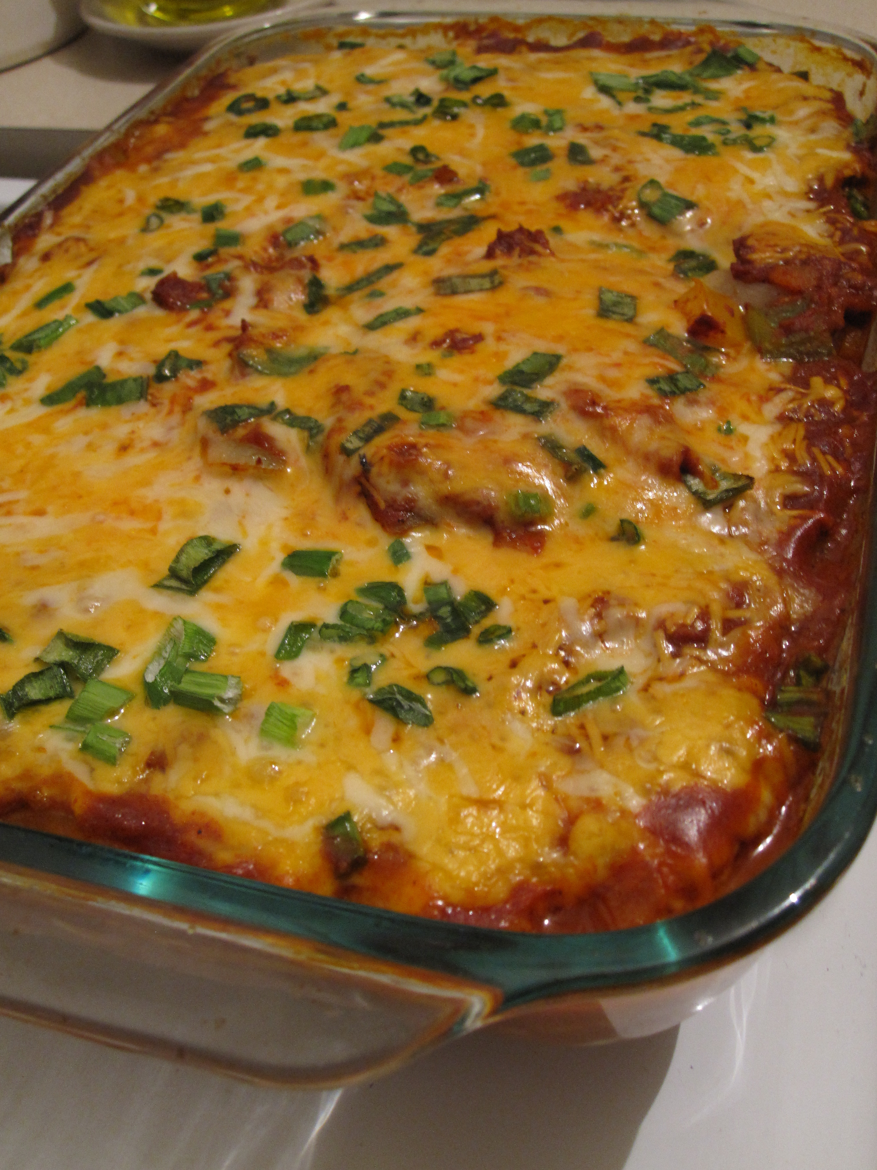 Easy low carb chicken enchilada recipe
