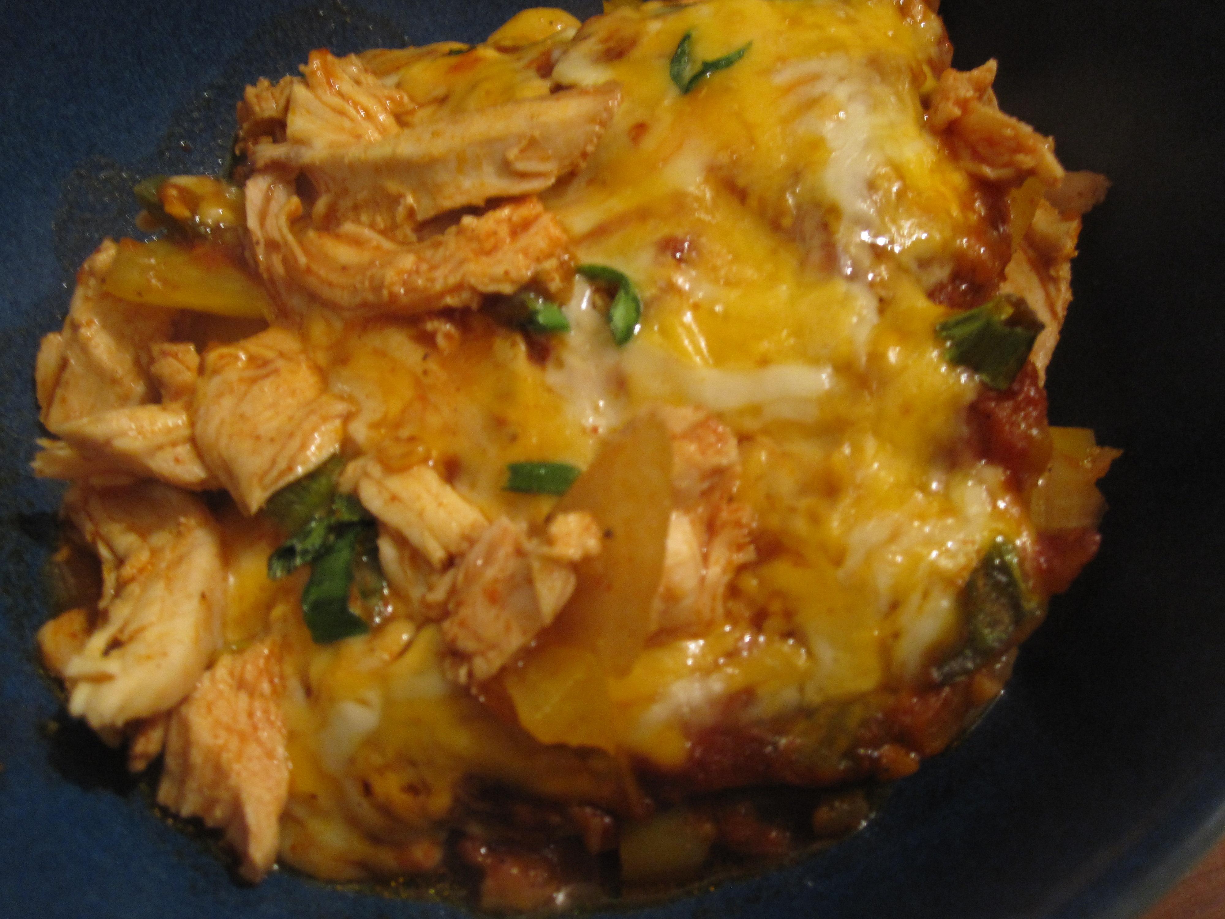 No Tortilla Cheesy Chicken Enchilada Bake | Starving Kitten
