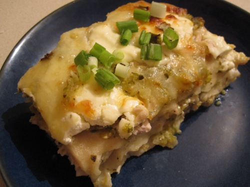 Enchilada Suizas Stacked Casserole